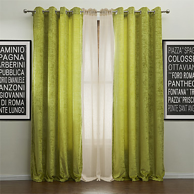 Two panels curtain modern solid polyester material for Autrefois home decoration rideaux