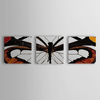 Hand Painted Oil Painting Animal Butterfly with Stretched Frame Set of 3 1309...