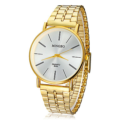 Men's Watch Dress Watch Concise Style Gold Round Dial Wrist Watch Cool Watch Unique Watch Fashion Watch