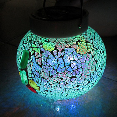 Mosaic solar table lights