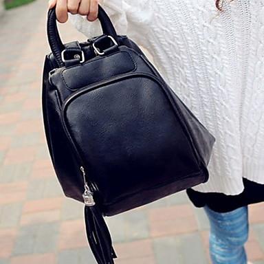 Women PU Casual Backpack Brown / Red / Black