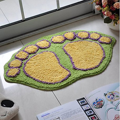 Bath Rug Yellow And Green Footprint 16x24 857312 2016