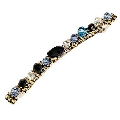 (1 Pc)Sweet Multicolor Crystal Barrettes For Women