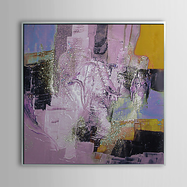Abstract Splashed Painting Framed Oil Painting