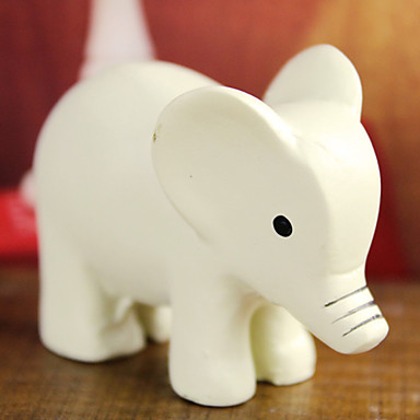 """1.75""""White Lovely Elephant Poplyresin Collectibles"""