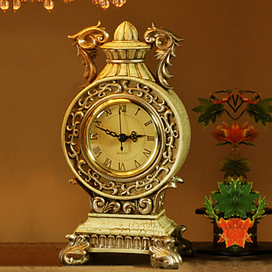"""10""""Country Style Polvresin Analog Tabletop Clock"""