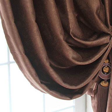 (One Panel Grommet Top) Modern Solid Blackout Curtain