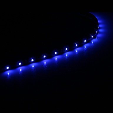 0.3M 15x1210SMD Cool WhiteBlue Light LED Waterproof Flexible String Light (DC 12V) 874013 2016 ...