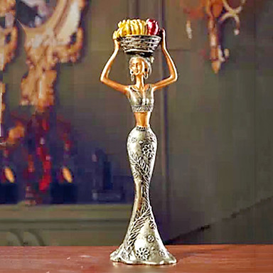"""12""""Country Style Girl Type Polyresin Collectible"""