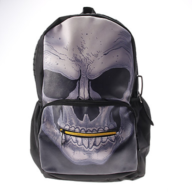 Unisex Nylon Casual Backpack Black