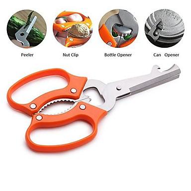 Buy Multi-functional Kitchen Scissors Peeler Can Opener Bottle Nut Clip, 7'', Stainless Steel