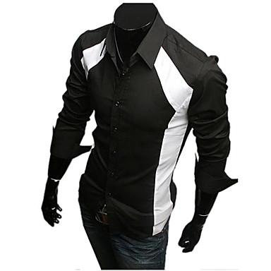 Men's Color Matching Long Sleeve Shirt