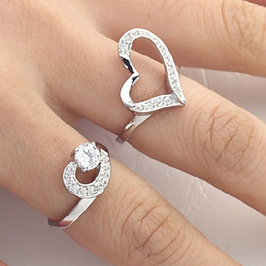 (2Pcs)Love Couple Rings(Size 8 For Men,Size 7 For Women)