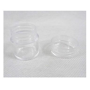 Caja redonda de acr lico de almacenamiento de pl stico for Cajas de plastico transparente