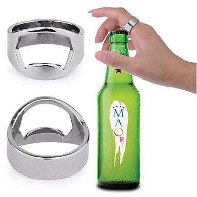 stainless steel finger ring style beer wine bottle opener. Black Bedroom Furniture Sets. Home Design Ideas
