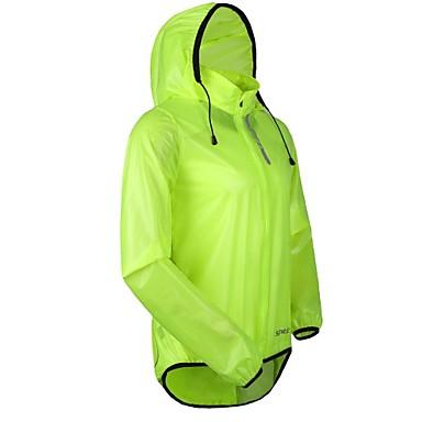 SANTIC® Cycling Jacket Men's Long Sleeve Bike Waterproof / Breathable / Windproof / Rain-Proof Jacket / Raincoat/Poncho / Tops PU Solid