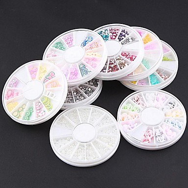 Buy Wheel Nail Art Rhinestone Kit Within Dotting Tool & 5 Glue