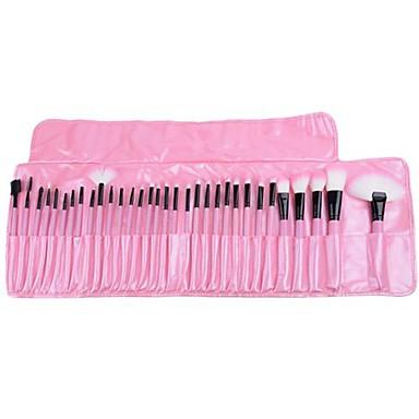32pcs makeup brushes set professional pink powder