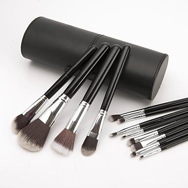 professional 12 pcs advanced nylon hair makeup brush set