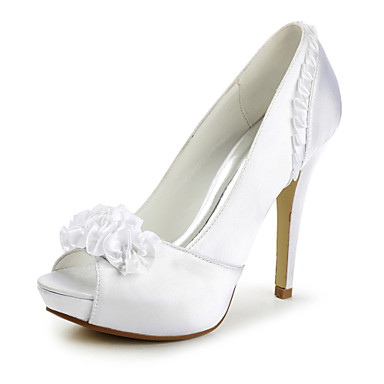 Buy Women's Wedding Shoes Peep Toe/Heels/Platform Heels Ivory