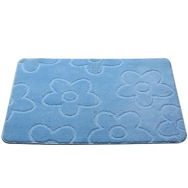 Embossed Floral Bath Rug Solid Latex Backing 1697845 2016