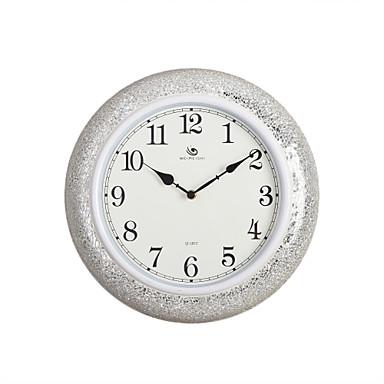 15 2 h estilo moderno redondo blanco de polyresin del - Reloj de pared moderno ...