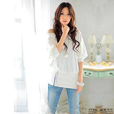 Women's Trendy OFF-Shoulder Cotton Blends Top T-Shirt