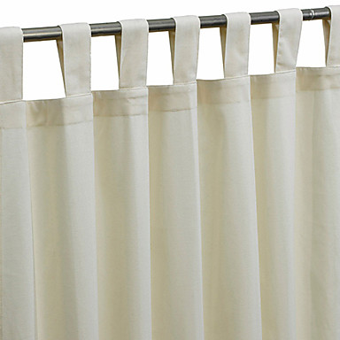 (One Panel Tap Top) Modern Minimalist Off-white Solid Energy Saving Curtain