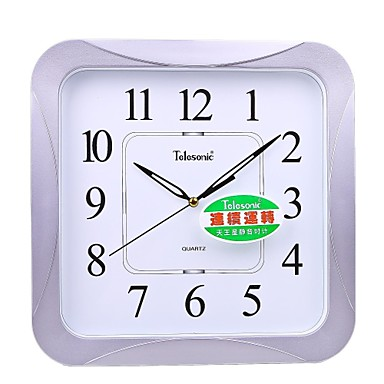 Telesonic 16 Quot H Rounded Square Shape Super Mute Wall Clock