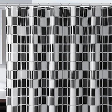 Noir et blanc peva rideau de douche de 1610496 2016 for Douche noir et blanc