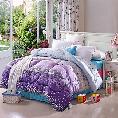 shuian comforter winter quilt keep warm thickening quilts with printing flower pattern 1865595. Black Bedroom Furniture Sets. Home Design Ideas