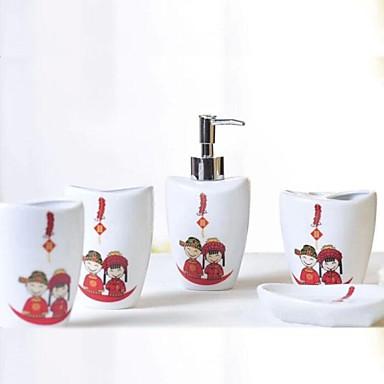 Accessoires de salle de bain ensemble 5 pi ce d 39 ensemble for Ensemble salle de bain accessoires
