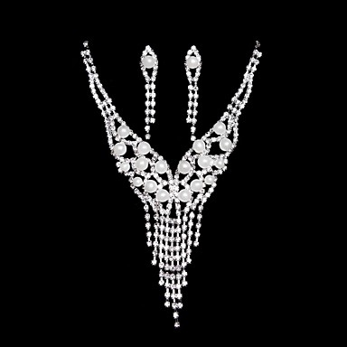 Buy Jewelry Set Women's Wedding / Party Daily Sets Alloy Necklaces Earrings Silver