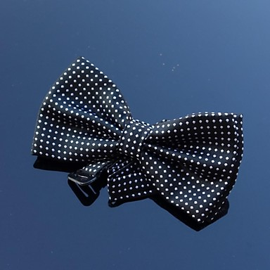 Men's Polyester Bow Tie,Party Work Casual Polka Dot All Seasons