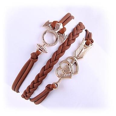 (1 Pc)Sweet 5.1cm Women's Cortical Alloy Chain & Link Bracelet