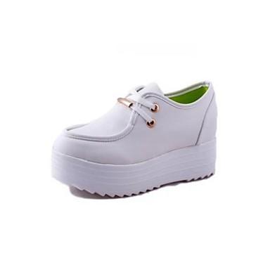 oxfords bout rond plate forme de talon de chaussures de chaussures pour femmes plus de couleurs. Black Bedroom Furniture Sets. Home Design Ideas