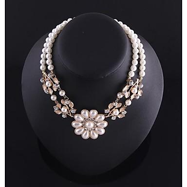 lady flores de perlas cadena de collar (Hualuo bisutería) 1964023 2016 \u2013 $7.99