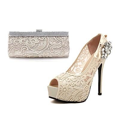 pompes plate forme de chaussures talon aiguille dentelle des femmes chaussures assorties sac de. Black Bedroom Furniture Sets. Home Design Ideas