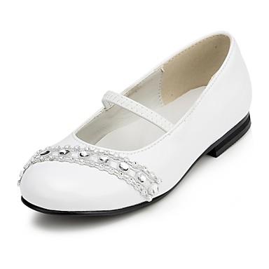 girl 39 s shoes wedding shoes comfort flats wedding black white 1897443