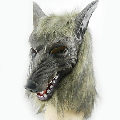 Buy Gray Wolf Latex Mask Halloween Party(1 Pc)