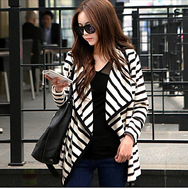 LYOU Women's Vintage/Sexy/Bodycon/Party/Work Long Sleeve Coats & Jackets (Polyester)