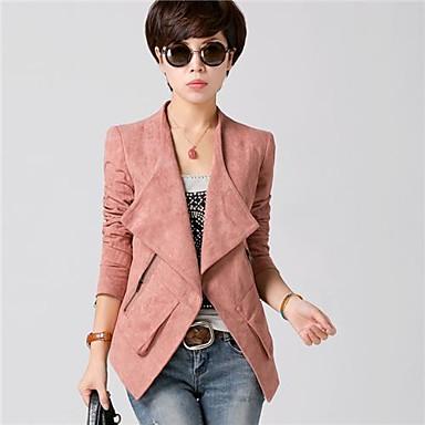 yibeier® женщин искусственного замша вскользь уменьшают куртку