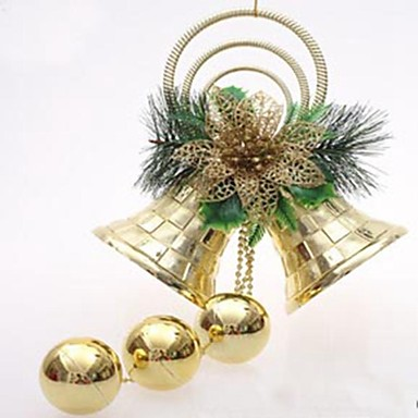 10cm Christmas Double Bell Tree Hanging Decoration