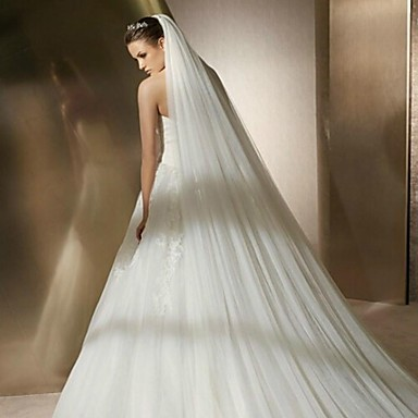 wedding veil two tier cathedral veils in 295cm tulle 2380144