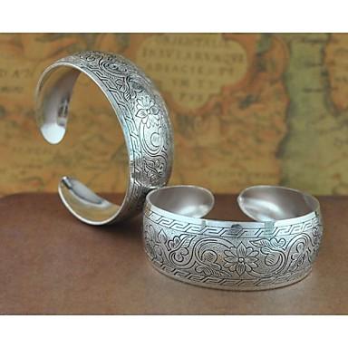 1PCS Fashion Carved Silver Bracelet N0.5
