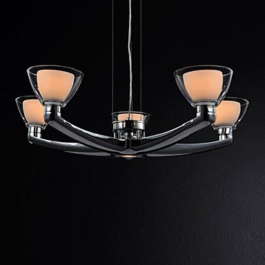 L mparas de ara a de cristal 6 luces de metal cromado - Lampara de arana moderna ...