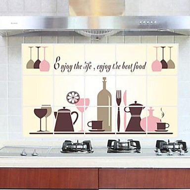 Buy Wall Stickers Tableware Style Kitchen Anti - oil Decorative Sticker
