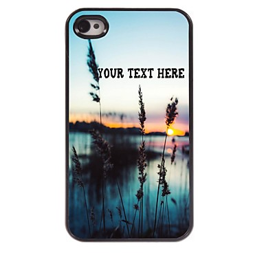 Buy Personalized Phone Case - Grass Sea Design Metal iPhone 4/4S