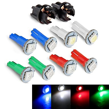 Buy Instrument Panel Dashboard Light Bulb DC12V 0.2W T5 LED 5050SMD Blue Red Green White + Socket 1JHK784001