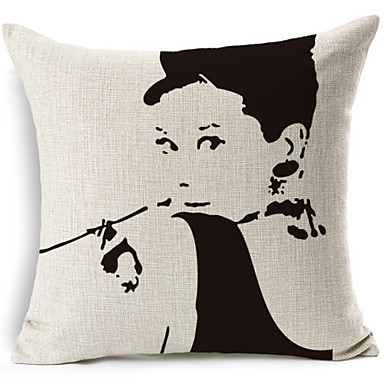 Buy Cotton/Linen Pillow Cover , Novelty Modern/Contemporary